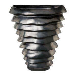 Ceramique vase WAVO52x45x27cm, anthrazit