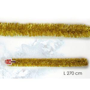 xmas tree deco gold sparkle garland L270cm