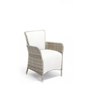 Trevi Dining Armchair Pure White wh Marine Plus Leather