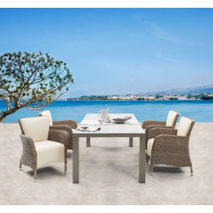 Atlanta Dining (Ext.Table W220/160*D90*H75cm/Armchair W68*D65*H87cm)