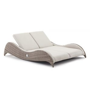 Luxor Double Sunlounger (W222xD171xH49/92cm) wh Marine Plus Leather