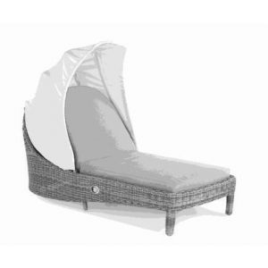 Bonassola Sunlounger White Pepper wh Cushion