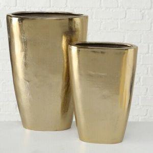 Vase Padina, Decoration, H 46 cm, Metal, Gold aluminium gold