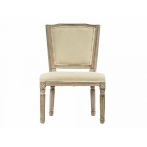 Dining chair with fabric and wood in french style . 50,00x54,00x99,00