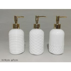 BATH DISPENSER WHITE/GOLD  H19*D7M