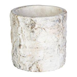 Cement cachepot BIRCH 10x10x10cm