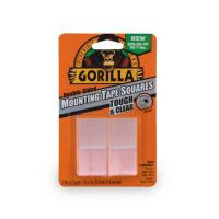 Gorilla Cyrstal Clear Mounting Tape Squares 24 Pack