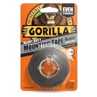 Gorilla Heavy Duty Mounting Tape Black 1.5m